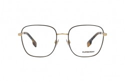 BURBERRY FRAME FOR UNISEX SQUARE BLACK AND GOLD - BE1347 1109