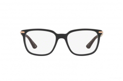 BVLGARI FRAME FOR MEN SQUARE BLACK AND GOLD - BV3034K 5313