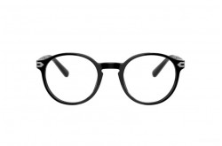 BVLGARI FRAME FOR MEN ROUND BLACK AND GREY - BV3045 501