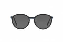 BVLGARI SUNGLASSES FOR UNISEX ROUND BLACK AND MATTE BLUE - BV5045 128-87