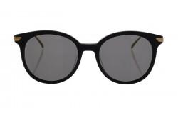 نظارة شمسية BOTTEGA VENETA للنساء دائري لون أسود و ذهبي  - BV1038SA 001