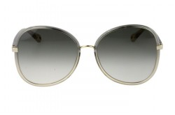 CHLOÉ SUNGLASS FOR WOMEN BUTTERFLY GREY AND GOLD - CH0030S 001