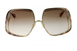 CHLOÉ SUNGLASS FOR WOMEN SQUARE GOLD AND TIGER - CH0035S 002