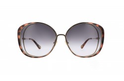 CHLOÉ SUNGLASS FOR WOMEN SQUARE GOLD AND TIGER - CH0036S 001