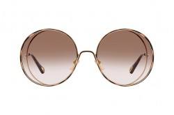 CHLOÉ SUNGLASS FOR WOMEN ROUND GOLD AND TIGER - CH0037S 001