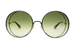 CHLOÉ SUNGLASS FOR WOMEN ROUND GOLD AND TIGER - CH0037S 003