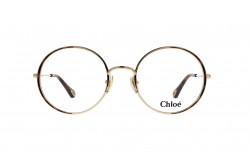 CHLOÉ FRAME FOR WOMEN ROUND GOLD AND TIGER - CH0040O 001