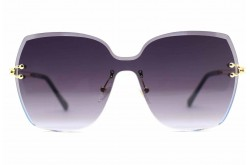 DESPADA SUNGLASS FOR WOMEN SQUARE BLACK AND GOLD - DS 1819  C1