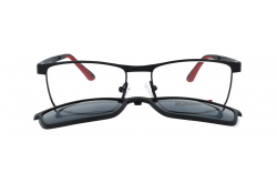 DESPADA CLIP ON FOR MEN RECTANGLE BLACK AND RED - DS1921 3