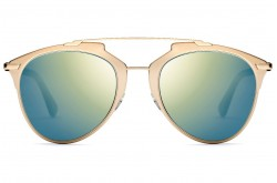 DIOR SUNGLASS FOR WOMEN AVIATOR GOLD AND BLACK - DIORREFLECTED XX83J