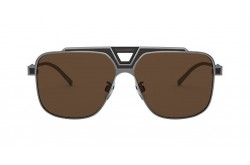 DOLCE&GABBANA SUNGLASS FOR MEN AVIATOR SILVER BLACK - DG2256 135073