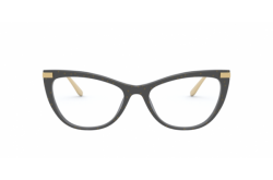 DOLCE&GABBANA FRAME FOR WOMEN CAT EYE BLACK AND GOLD - DG3329 3210