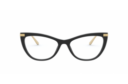 DOLCE&GABBANA FRAME FOR WOMEN CAT EYE BLACK AND GOLD - DG3329 501