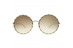 ELIE SAAB SUNGLASS FOR WOMEN ROUND GOLD - ES 004/S  01Q/VU