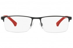 EMPORIO ARMANI FRAME FOR MEN RECTANGLE BLACK AND RED - EA1075 3109