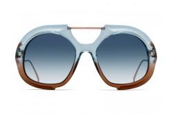 نظارة شمسية FENDI للنساء مربع لون أزرق و برونزي  - FF0316S S9W8