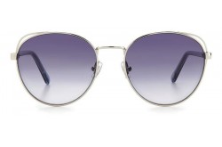 FOSSIL SUNGLASSES FOR WOMEN ROUND SILVER AND TRANSPARENT BLUE - FOS2107GS 0109O