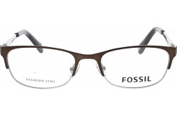 FOSSIL FRAME FOR UNISEX RECTANGLE BROWN AND SILVER - FOS7059 01Q