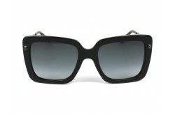 GUCCI SUNGLASS FOR WOMEN SQUARE BLACK AND BRONZE - GG0216S 001