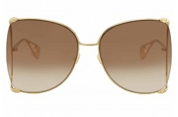GUCCI SUNGLASS FOR WOMEN SQUARE GOLD - GG0252S   003
