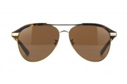 GUCCI SUNGLASS FOR MEN AVIATOR BLACK AND GOLD - GG0288SA