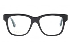 GUCCI FRAME FOR MEN SQUARE BLACK AND RED - GG0342O 001