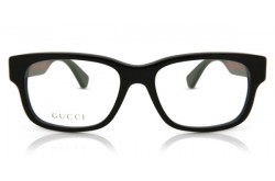 GUCCI FRAME FOR MEN SQUARE BLACK AND RED - GG0343O 004