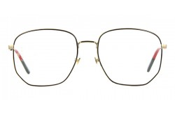 GUCCI FRAME FOR WOMEN SQUARE BLACK AND GOLD - GG0396O  001