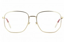 GUCCI FRAME FOR WOMEN SQUARE BLACK AND GOLD - GG0396O  002