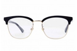 GUCCI FRAME FOR UNISEX CAT EYE BLACK AND GOLD - GG0409OK