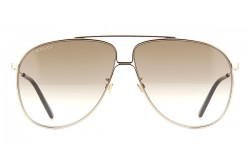 GUCCI SUNGLASS FOR MEN AVIATOR BLACK AND GOLD - GG0440S  007