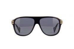 GUCCI SUNGLASS FOR MEN AVIATOR BLACK GOLD - GG0587S 001