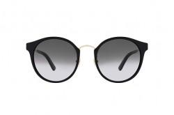 نظارة شمسية GUCCI للرجال والنساء دائري لون أسود و ذهبي  - GG0588SK 001