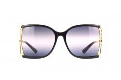 GUCCI SUN GLASS FOR WOMEN D-SHAPE BLACK GOLD - GG0592S 002
