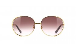 GUCCI SUN GLASS FOR WOMEN ROUND GOLD- GG0595S 004