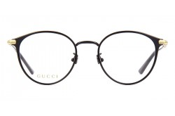 GUCCI FRAME FOR WOMEN ROUND BLACK AND GOLD - GG0611OK 001