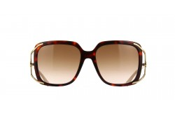 GUCCI SUNGLASS FOR WOMEN SQUARE GOLD AND RED - GG0647S  002