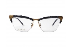 GUCCI FRAME FOR WOMEN CAT EYE BLACK AND BRONZE - GG0660O 001