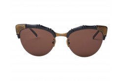GUCCI SUNGLASS FOR WOMEN CAT EYE BLACK AND GOLD - GG0661S 001
