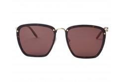 نظارة شمسية GUCCI للرجال والنساء مربع لون نمري و ذهبي  - GG0673S 002