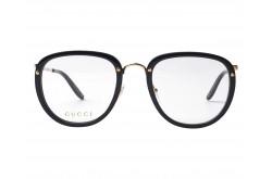 نظارة طبية GUCCI للرجال مربع لون أسود و ذهبي  - GG0675O 001