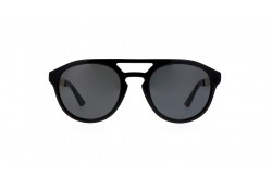 GUCCI SUNGLASS FOR UNISEX ROUND BLACK GOLD - GG0689S 001