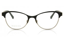 GUCCI FRAME FOR WOMEN CAT EYE BLACK AND GOLD - GG0718O 001