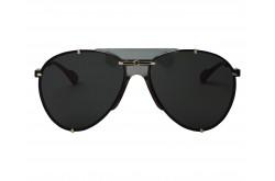 نظارة شمسية GUCCI للرجال والنساء آفياتور لون أسود و ذهبي  - GG0740S 001