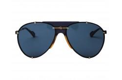 نظارة شمسية GUCCI للرجال والنساء آفياتور لون أسود و ذهبي  - GG0740S 002