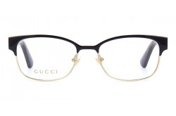 GUCCI FRAME FOR WOMEN RECTANGLE BLACK AND GOLD - GG0751O 002