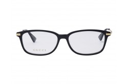 GUCCI FRAME FOR WOMEN RECTANGLE BLACK AND GOLD - GG0759OA 001