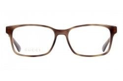 نظارة طبية GUCCI للرجال مستطيل لون نمري  - GG0826O 003