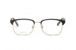 نظارة طبية GUCCI للرجال مربع لون أسود و ذهبي  - GG0934OA 001