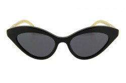 GUCCI SUNGLASS FOR WOMEN CAT EYE BLACK AND GOLD - GG0978S 004